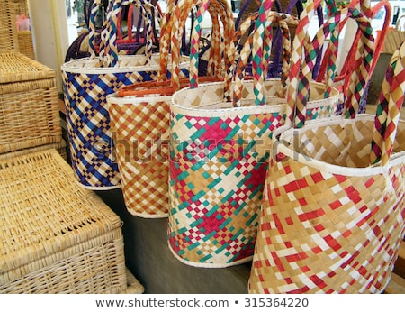 Basket for table ware Stock photo © shutswis