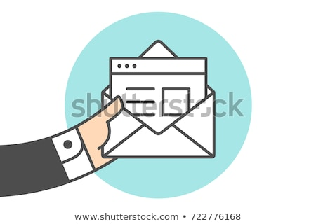 biznesmen · niebieski · otwarte · folderze · biały - zdjęcia stock © lunamarina