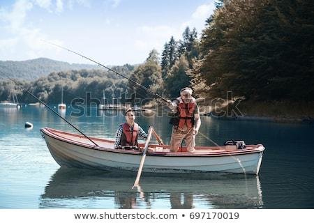 empresario · pesca · dólar · eps10 · vector · formato - foto stock © zzve