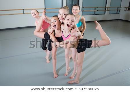 Tornász lány tánc izolált fehér nők Stock fotó © stepstock