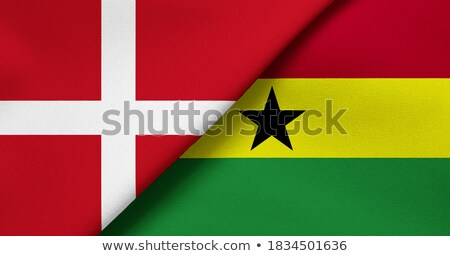 Linen flag of Ghana Stock photo © michaklootwijk