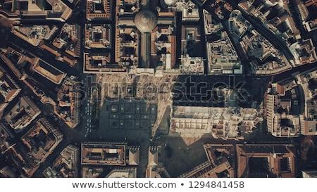 Milan çatı katedral İtalya gökyüzü Stok fotoğraf © anshar