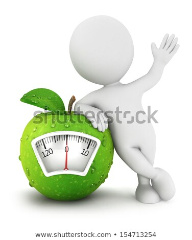 3d character with nutrition scale stock photo © kirill_m
