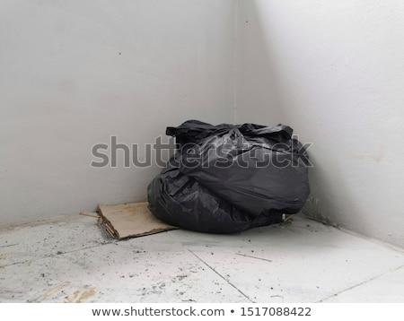 Refuse bin in room corner on white Stock photo © shutswis