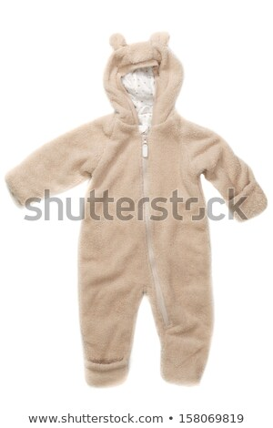 Stock photo: Fluffy jumper with hood and ears