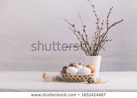 színes · húsvéti · tojás · vászon · húsvét · boldog · háttér - stock fotó © ssuaphoto
