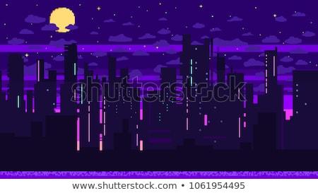 современных · пурпурный · интерьер · черный · лампы · желтый - Сток-фото © shawlinmohd