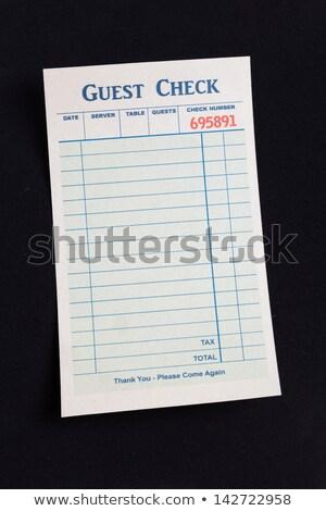 Vendég csekk étterem költség papír vacsora Stock fotó © devon