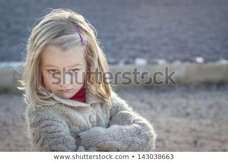 Difícil menina jovem loiro jeans Foto stock © DNF-Style