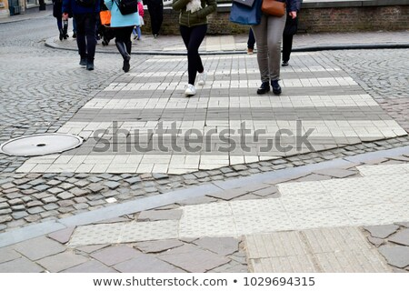 busy shopping street in Bruges, Belgium,  Stock photo © jenbray