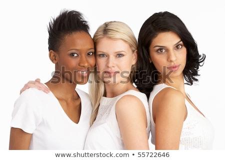 Portré három vonzó fiatal nők stúdió nő Stock fotó © monkey_business