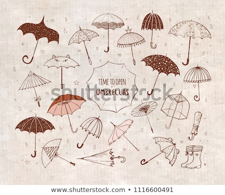 Vintage cute open umbrella in style Stock photo © kali