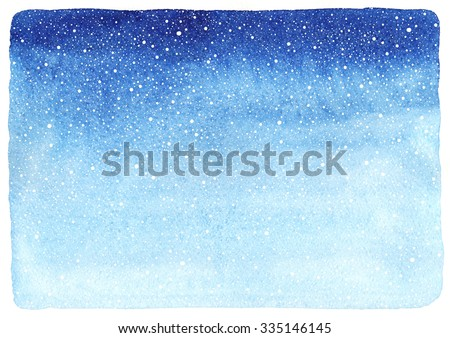 watercolor blue painted christmas snowflake stock photo © gladiolus