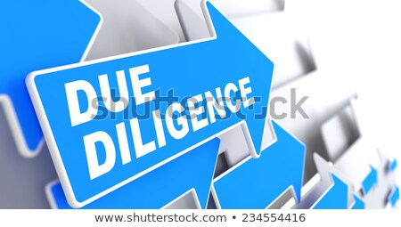 Due Diligence on Blue Direction Arrow Sign. Stock photo © tashatuvango