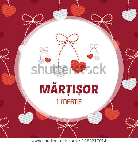 Tradizionale gingillo simboli amore simbolo bianco Foto d'archivio © mady70