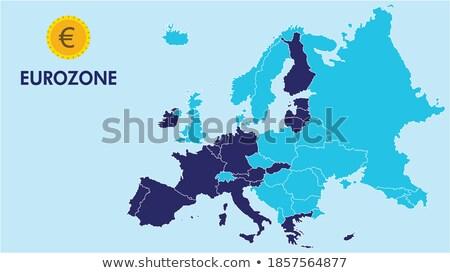 eurozone countries map stock photo © peterhermesfurian
