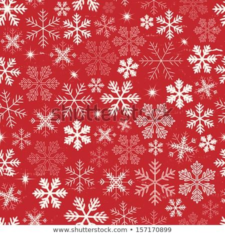 White and Red SnowFlake Grunge Stock photo © PokerMan