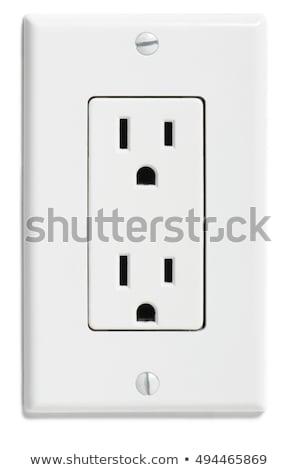 Blanco eléctrica foto placa energía Foto stock © ozaiachin