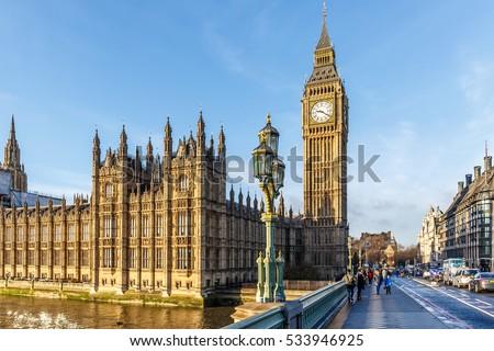 Westminster · Abtei · Morgen · London · Straße · Gebäude - stock foto © andreykr