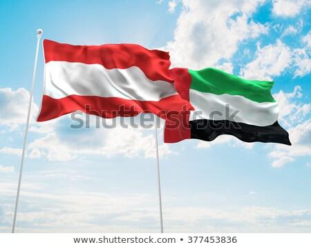 Birleşik · Arap · Emirlikleri · cebelitarık · bayraklar · bilmece · yalıtılmış · beyaz - stok fotoğraf © istanbul2009