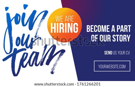 Hire Us Blue Vector Icon Design stock photo © rizwanali3d