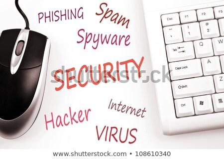 woord · virus · computer · sleutels · www - stockfoto © fuzzbones0