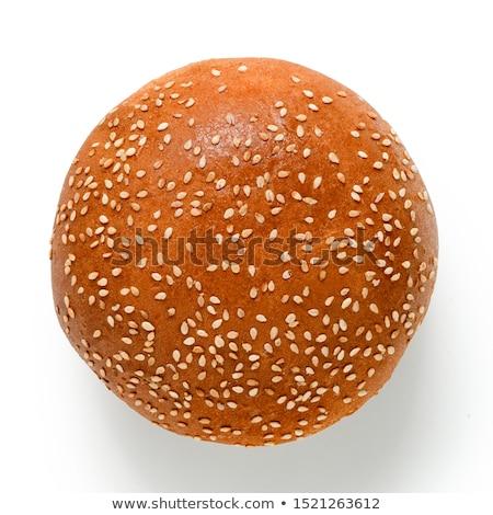 Bollo rebanadas listo hamburguesa pan Foto stock © Digifoodstock