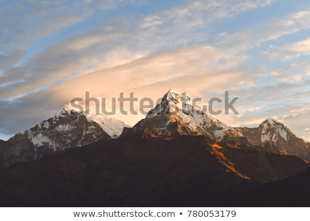 горные Вдохновенный пейзаж Непал Гималаи Сток-фото © blasbike