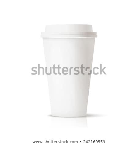 Foto documentos xícara de café branco café quadro Foto stock © tetkoren
