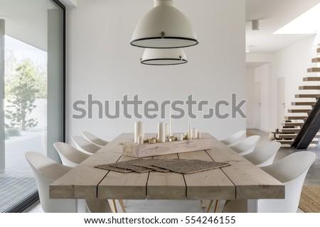 Luxueus eettafel wijn home glas restaurant Stockfoto © pixpack