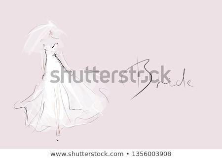小さな 美しい 花嫁 美人 ファッショナブル ウェディングドレス ストックフォト © user_9834712