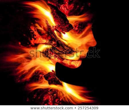 ファッション · 女性 · 火災 · 美 · すごい · 完璧なボディ - ストックフォト © dmitroza