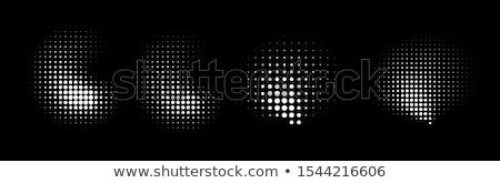 Abstract punteggiata forme set nero illustrazioni Foto d'archivio © derocz