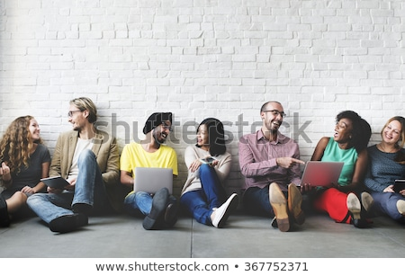 Technology connecting a group of people Stock photo © bluering