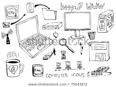 vídeo · site · tela · monitor · ícone · do · computador · vetor - foto stock © rastudio