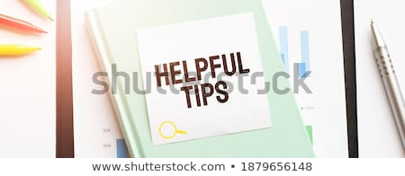помочь · текста · блокнот · фон · знак - Сток-фото © fuzzbones0
