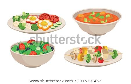 condimento · illustrazione · carattere · ciotola · insalata · alimentare - foto d'archivio © bluering
