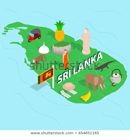 Isometric map of Sri Lanka detailed vector illustration Stock photo © tkacchuk