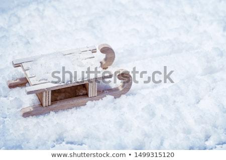 Slee sneeuw winter illustratie kinderen kind Stockfoto © adrenalina