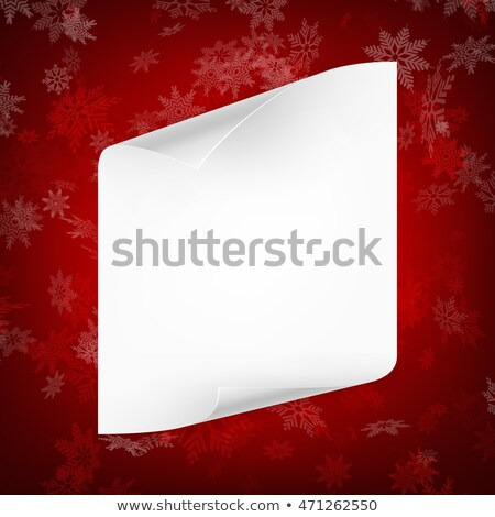Christmas sheet of curved paper. EPS 10 Stock photo © beholdereye