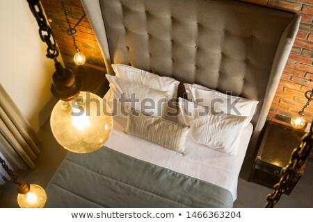 антикварная · потолок · фары · красивой · золото · коричневый - Сток-фото © artistrobd