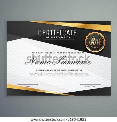 Elegáns bizonyítvány elismerés díj sablon fekete Stock fotó © SArts