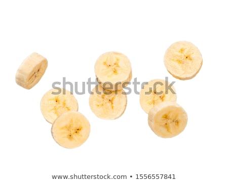 Banán szeletek friss fehér étel csoport Stock fotó © Digifoodstock