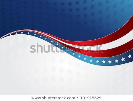 Patriótico ola EUA bandera día banner Foto stock © fresh_5265954