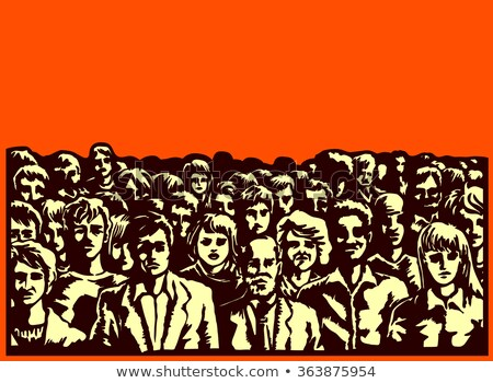 large group of unrecognizable people as audience on political me stock photo © stevanovicigor