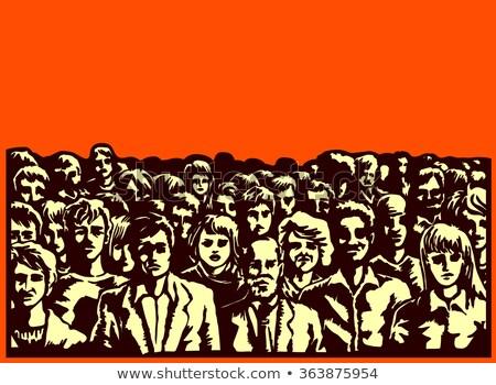 толпа · политический · заседание · неузнаваемый · человек · аудитории - Сток-фото © stevanovicigor