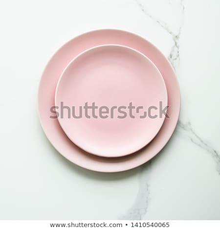 branco · coupe · prato · oval · limpar · moderno - foto stock © digifoodstock