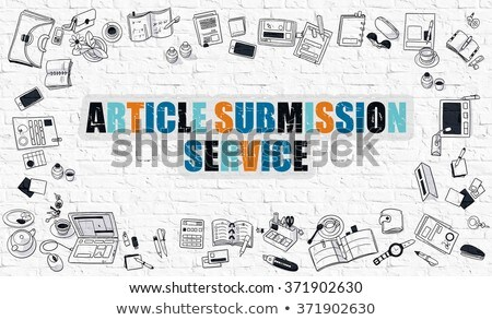 Stock photo: Article Submission Service in Multicolor. Doodle Design.