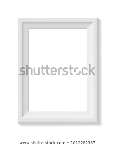 White picture frame. Portrait orientation Stock photo © pakete