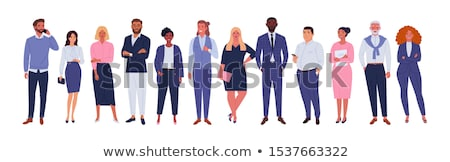 Asian Man White Woman Standing Work-Out Isolated Stock photo © Qingwa